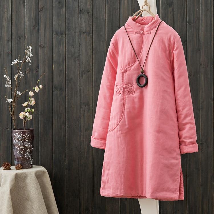 Retro Theatrical Cotton Long-sleeved Cotton Plate Buttons Chinese Women Quilted Thick Warm Winter Padded JacketÎäåæäà è àêñåññóàðû<br><br>
