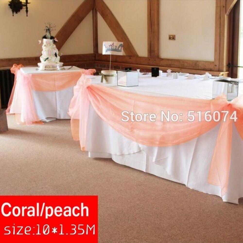 Украшение свадебного стола органзой своими руками