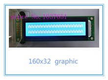160x32 lcd display 20x2 graphic lcd module 116X35mm Graphic ST7920 SPI serial 3.3V or 5v  LM16032D LG160325 1u case