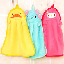 Cute Animal Microfiber Kids Children Cartoon Absorbent Hand Dry Towel Lovely Towel For Kitchen Bathroom Use(China)