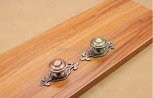 Antique Drawer Knobs Gold Shoe Box Kitchen Cabinet Knobs and Pulls(China)