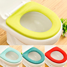 1 PC Candy Color Toilet Cover Seat Lid Pad Soft Warmer Bathroom Closes tool Protector Toilet Seat case Comfortable Toilet Seat 3
