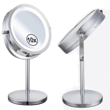 7 inches LED Lights Makeup Mirror Desktop Double Side Mirror 5X or 10X Magnification New Style Bathroom Cosmetic Mirror(China)
