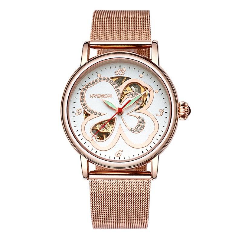 Classic women Watch Top Brand Luxury steel Mechanical Watch Women Bracelet Fashion Skeleton Clocks Elegant Ladies Watch<br>