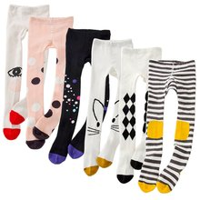 Spring Girls Tights Cartoon Cat Baby Girl Pantyhose Cotton Knitted Cotton Cute kids Stocking Baby Pantyhose Tight(China)