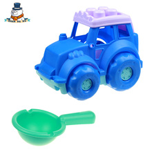 [QuanPaPa] 2 Pcs/Set High Quality Beach Toy Bucket Shovels Cars Plastic Water Sand Tool Baby Bath Toys Best Gift For Kids ST02(China)
