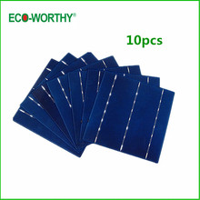 ECO 10pcs Whole 6x6 Poly Solar Cells Factory Short Tabbed 4.1W 156X156mm Polycrystalline Silicon Solar Cell for 5V Solar Panel
