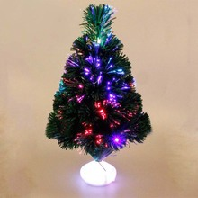1Pc Colorful Christmas Tree Flashing Light Party LED Light Strip Lamp Home Decor Waterproof Powered Battery 45cm Height(China)