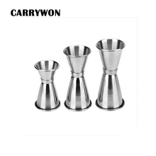 CARRYWON 3 Sizes for Choice Stainless steel Single Double Shot Cocktail Wine Short Measure Cup Drink Bar Party(China)