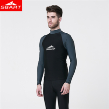 SBART Men Snorkeling Windsurf Rashguard Wetsuit Surf UV Protection Swim Shirt Diving Tops Long Sleeve Swimsuit for Surfing L720