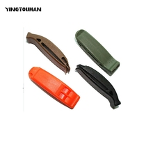 YINGTOUMAN 3pcs/lot High Decibel Outdoor Survival Double Frequency Bright Orange Black Safety Whistle Emergency Whistles(China)