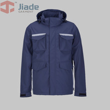 Jiade Men's Pocket Jacket Mens Work Wear Jacket Work Cap Jacket(China)