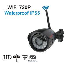Wifi IP Camera P2P for Smartphone IP65 Waterproof Bullet Camera 720P 1.0 Megapixel WiFi HD Network Surveillance Camera with IR