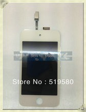 20pcs/lot for iPod Touch 4 4th Gen Original LCD Screen with Digitizer full set white free shipping by DHL UPS