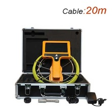 20m Cable Drain and Pipe Inspection Camera 12 LEDs Camaer OD23mm Sewer Underwater Video Camera 7 Inch LCD Monitor WPS710-SCJ-20(China)
