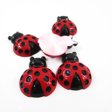 27*21*10mm ladybug 3d resin 25 pieces, diy holiday decoration crafts accessories handmade materials,wedding gift wrap,25Yc2538