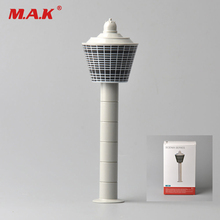 1:400 Scale White Diecast Airport Tower Set Scenix Series Model Aerodrome Control Tower for Airplane Scene Toy Collections(China)