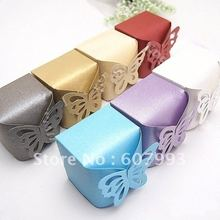 Butterfly  favor Wedding Candy Boxes party gifts packing paper chocolate packaging ,200pcs