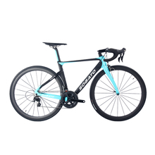 Super light Carbon aero road bike blue 7.5kg completed bike 50mm clincher wheels bicycle 5800 /6800 groupsets