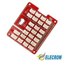Elecrow Base Shield for Raspberry Pi 3 UART/I2C/Analog/Digital interface On-board ADC Chip MCP3008 DIY Kit
