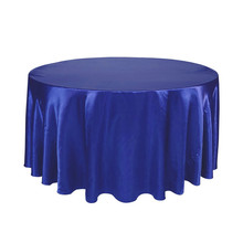 "21 Colors Options 59""/72""Square Satin Overlay /120"" Round Satin Tablecloth Cover for Wedding Party Restaurant Banquet Decor(China)"