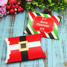 Merry Christmas Pillow Boxes, DIY Christmas Gift Box,Candy Box 30PCS/LOT