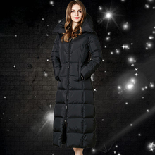 Nice Euro-Star Fashion Parka Winter Coat Women Thick Long White Goose Down Jacket Parkas For Women Winter Warm Jacket CP1161