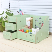 Multi-functional wooden drawer separated type cosmetics  occupy the home storage box DIY jewelry box dresser organizer
