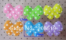 PA0016 Bows shape padded felt appliques multicolors 400pcs handicraft ornament DIY accessories