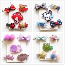 Buy 1 Set Cute Cartoon Unicorn Bowknot Girls Kids Hair Clips Bows Barrette Hairpin Accessories Children Hair Ornaments Hairclip for $2.67 in AliExpress store