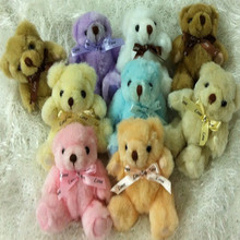 13 cm with drill wear skirts teddy bear doll. Diamond Bear dolls, plush toys, cartoon bouquet materials wholesale