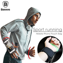 Baseus Sport ArmBands Case For iPhone 6 6S 7 Plus Outdoor Waterproof Running Gym Phone Pouch Cover For Samsung S8 Arm Band Bag(China)