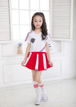 Children Cheerleading Clothes Games Group Cheerleaders Clothing Men and Women Students Performance Ballroom Dancewear(China)