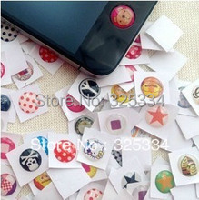 Home Button Stickers for iPhone 4 4s iPad iTouch DIY phone decoration Free shipping HOT SALE 990pcs