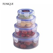 FUNIQUE Kitchen Storage Box Plastic Fresh Boxes Fruit Vegetable Fresh Container Food Containers Set Kitchen Organizer Tool(China)