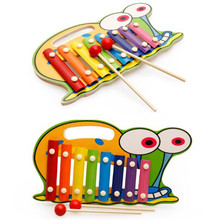 Wooden Hand piano Animal character Octave piano Music Enlightenment Artifacts  brain game  Children's color recognition toys