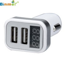 Top Quality High Speed Charging 4 In 1 Dual USB Car Charger Adapter Voltage DC 5V 3.1A Tester For iPhone AUG 25