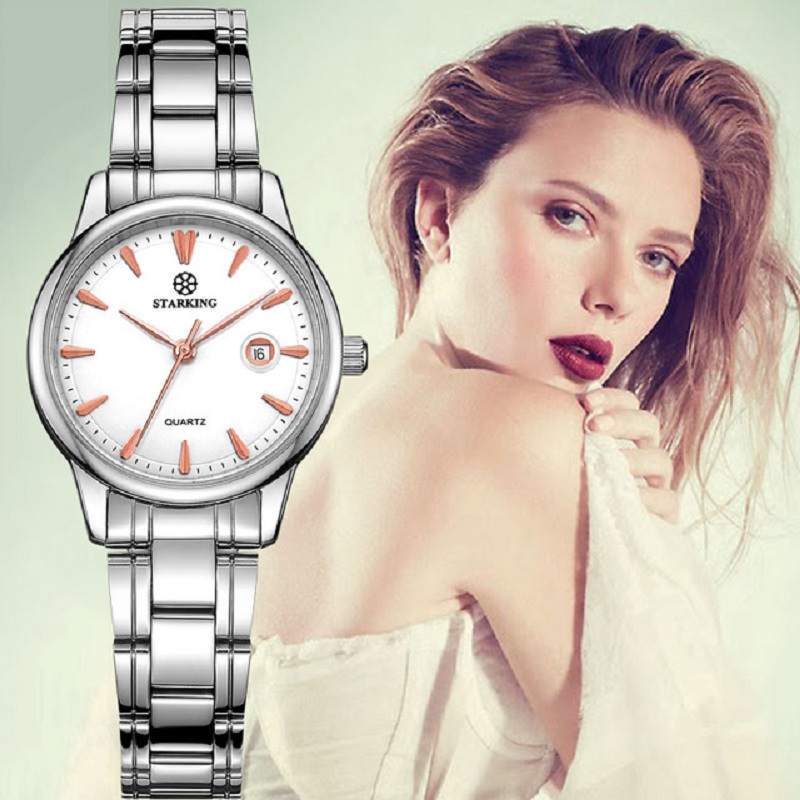 STARKING 2017 Relogio Feminino Quartz Fashion Simple Watch Auto Date Stainless Steel Strap Wristwatch Waterproof Hot Sale Watch<br>