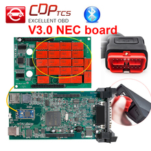 Double Green V3.0 NEC board CDP TCS cdp pro no Bluetooth 2015.R3 keygen software OBD II scanner cars trucks OBD2 diagnostic tool(China)