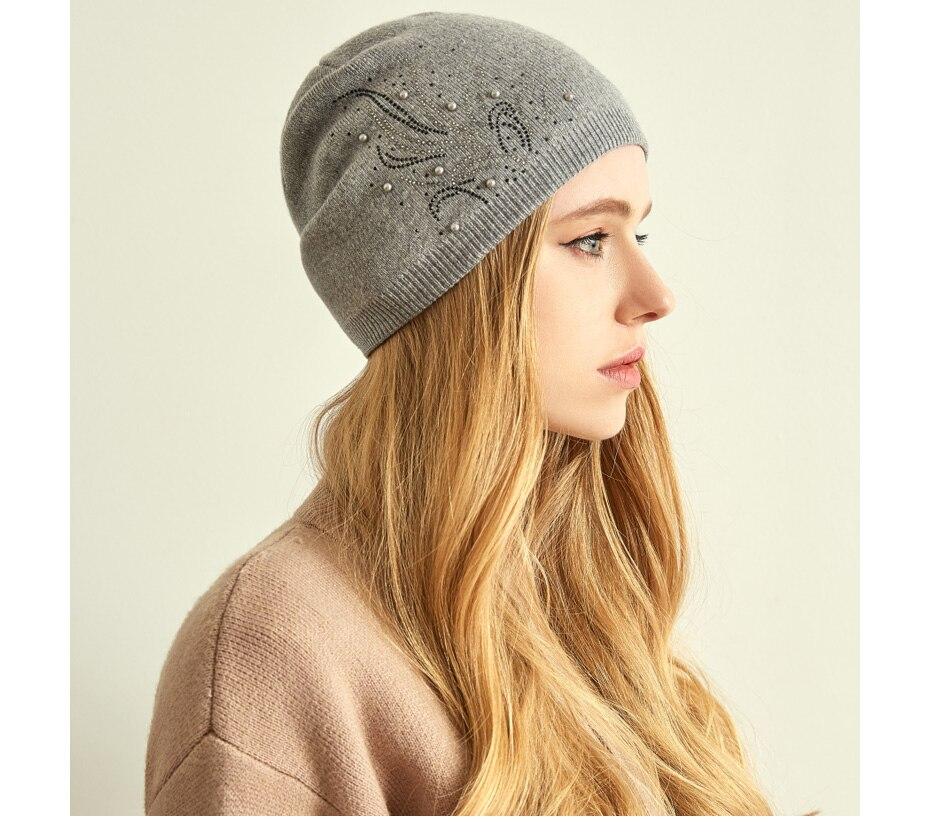 قبعات صوف للنساءبالوان متعددة 10