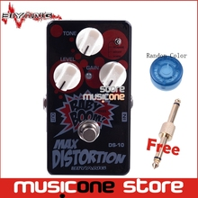 Biyang Baby Boom DS-10 Three Modes Electric Guitar Bass Pedal Max Distortion Effect pedal True Bypass with pedal connector