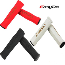1Pair of Easydo MTB Bicycle Sponge Soft Grips /Folding Bike Handlebar Anti-Skid Sets Grips bicycle accessories Red black white(China)