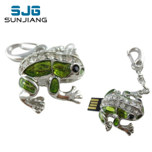 Diamond Cute Frog USB Flash Drive 64GB 32GB Diamond Pen Drive 16GB 8GB 4GB Pendrive Memory Sticj USB 2.0 U Disk