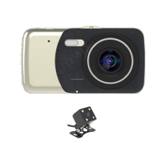 4 inch Dual Lens Car DVR Cam Dashcam 1080P Full HD Video Registrator Recorder With Backup Rearview Camera G-Sensor WDR