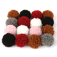 6pcs/lot Dia 2.5cm Soft Cashmere Charm Beads Pom Pom Hair Ball Charm Pendant for Earring Fashion Jewelry Findings Craft Making(China)