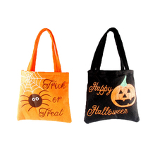 New Halloween Supplies Kids' Pumpkin Candy Tote Bag Fabric Bag Decoration Party Supplies Gift Bag #250805