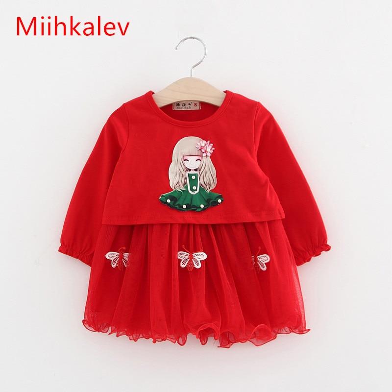 Mihkalev 2018 spring Todder baby clothes for girls clothing set tops +dress children princess sets (1 dozen include 4 sets )<br>