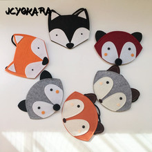 JCYOKARA Baby Girl Fox Coin Purse JC KIDS Cute Small Fox Bag Handmade Fox Shaped Messenger Bag Wallet Purse 6 Colors Avaiable(China)