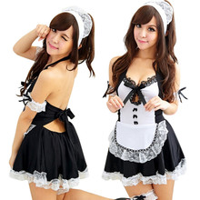 Buy Lovely Female Maid Lace Sexy Lingerie Sexy Underwear Lolita Maid Outfit Sexy Miniskirt Sexy Costume Sex Products Black Colors
