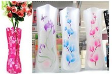 New plastic PVC Foldable Unbreakable Flower Vase,Creative household items;Novelty items;Home & office decorative product(China)